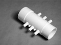 10502 Manifold PVC, Air,  WATERW, 1-1/2inSpg x 1-1/2inS x (6)3/8inRB Port