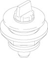 10291 AIR BLEED ASSEMBLY,  3/8,  GRAY