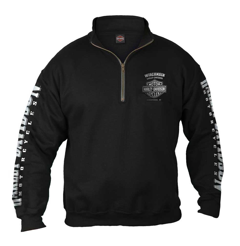 Men's Lightning Crest 1/4 Zip Cadet Pullover Sweatshirt