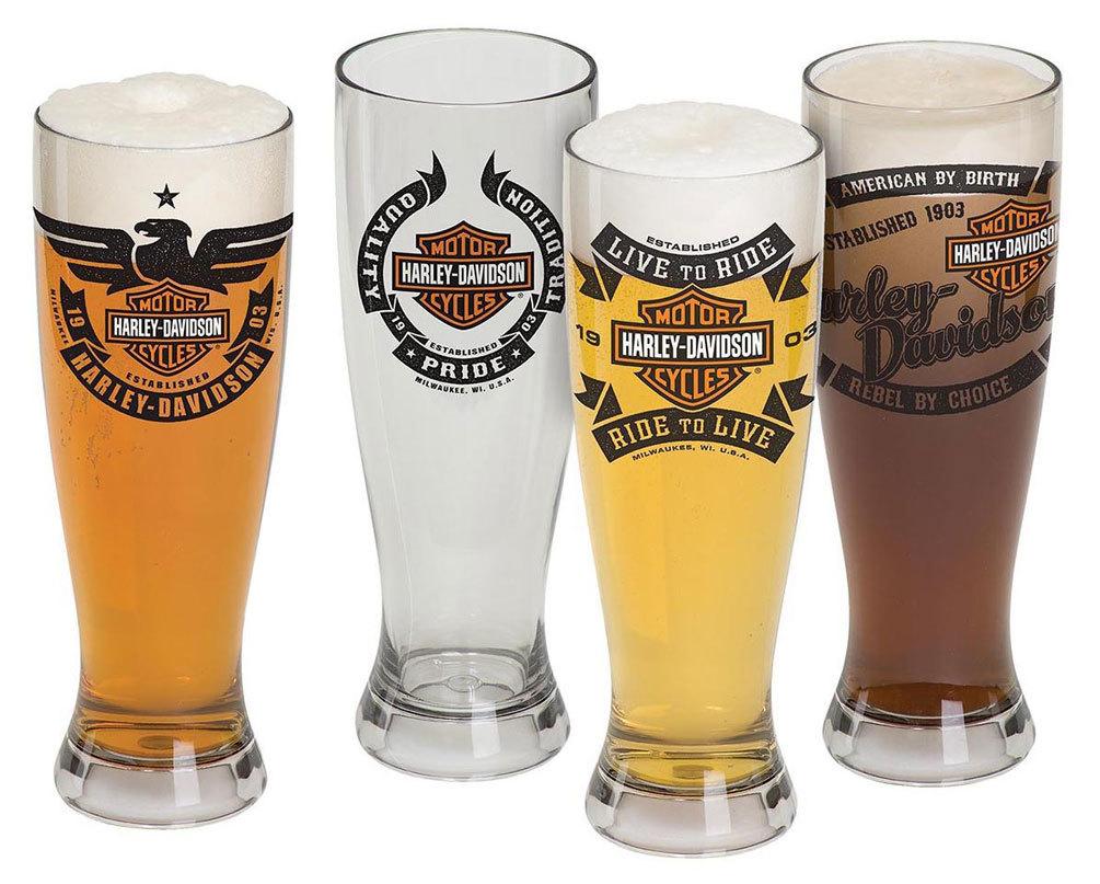 Harley-Davidson® Bar & Shield Acrylic Pilsner Glasses Set, 22 oz. HDL-18775