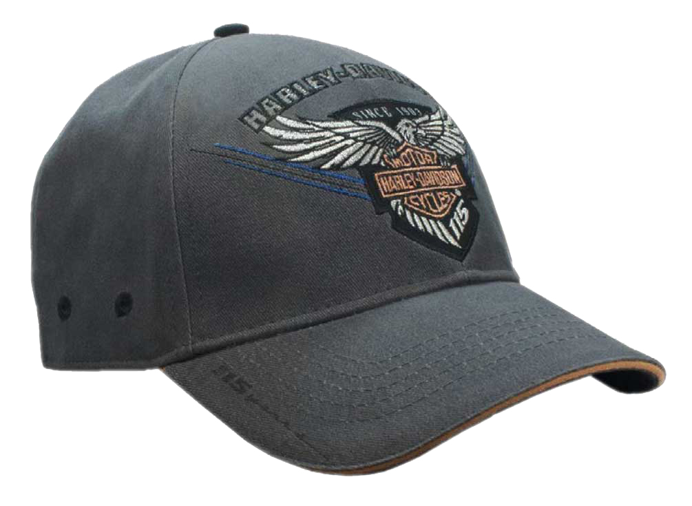 Harley-Davidson Men's Embroidered 115th Anniversary Eagle Baseball Cap
