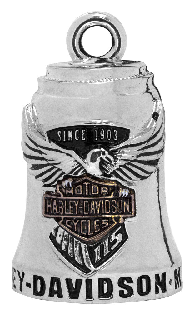 Harley-Davidson Sculpted 115th Anniversary Ride Bell, Silver Finish.