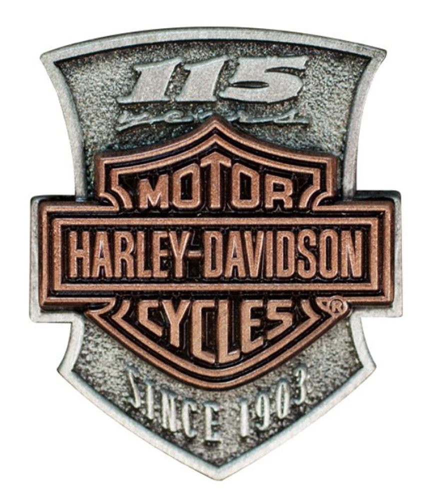 Harley-Davidson 115th Anniversary 2D Die Struck Pin, Limited Edition