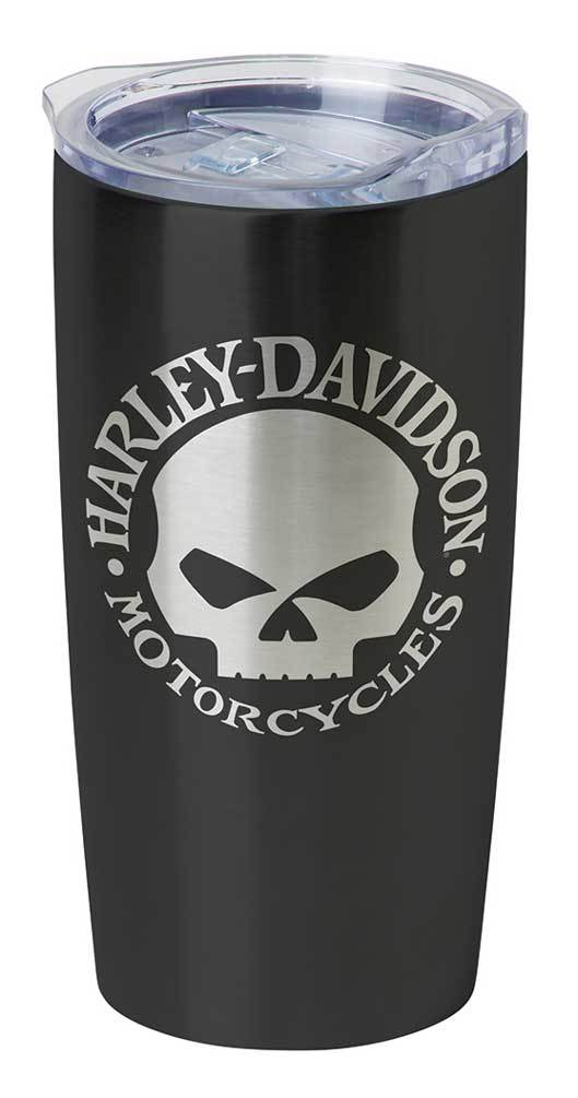 Harley-Davidson® Core Willie G Skull Stainless Steel Travel Mug, Black HDX-98618