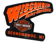 Harley-Davidson Dealership Logo Magnet Black & Orange W MAGNET - Wisconsin Harley-Davidson