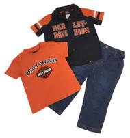 Harley-Davidson Little Boys' Velvet H-D Denim Pant Set, 3 Piece Set Black 2070488 - Wisconsin Harley-Davidson