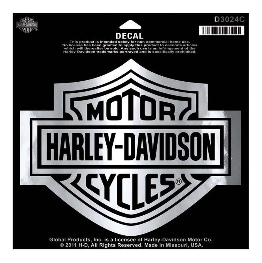Harley davidson bar shield chrome large decal large size sticker d3024c wisconsin