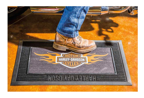 Harley Davidson 174 Entry Floor Mat Flame Bar Amp Shield