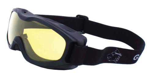 Guard-Dogs Evader II Motorcycle Airsoft Goggles, Golden Lens, Black 055-13-01 - Wisconsin Harley-Davidson