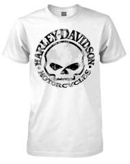 Harley-Davidson Men's T-Shirt, Willie G Skull Short Sleeve Tee, White 30296643 - Wisconsin Harley-Davidson