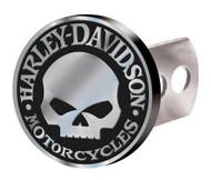Harley-Davidson Hitch Cover, Willie G Skull Hitch Plug, Brushed Silver 2283 - Wisconsin Harley-Davidson