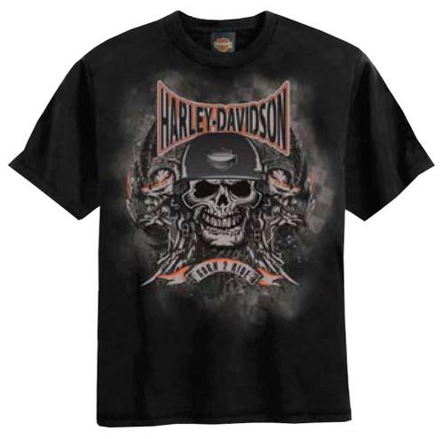 Harley-Davidson Big Boys' Skull Embossed H-D T-Shirt Black 0294184 - Wisconsin Harley-Davidson