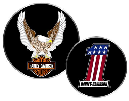 Harley-Davidson #1 Winged Eagle Bar & Shield Challenge Coin 1.75'' 8002954 - Wisconsin Harley-Davidson