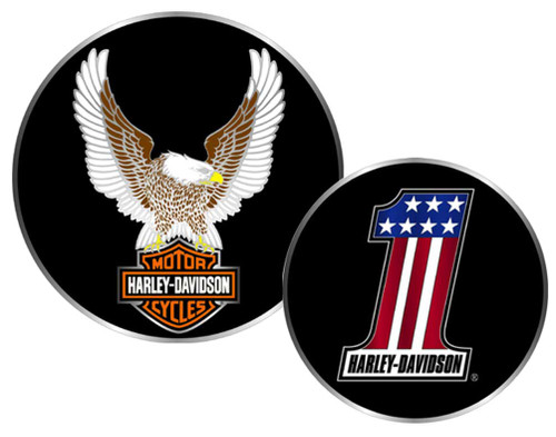 Harley-Davidson #1 Winged Eagle Bar & Shield Challenge Coin 1.75'' 8002954 - Wisconsin Harley-Davidson