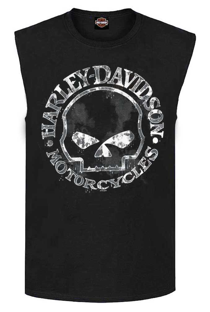 f08f297f925 ... Harley-Davidson Men's Willie G Skull Muscle Tank Top. See 1 more picture
