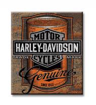 Harley-Davidson Tin Sign, Oil Can Bar & Shield Rustic Sign, Brown 2010931 - Wisconsin Harley-Davidson