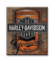 Harley-Davidson Tin Sign, Oil Can Bar & Shield Rustic Sign, Brown 2010931 - Wisconsin Harley-Davidson