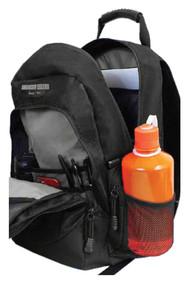 Harley-Davidson Bar & Shield Day Backpack, Gray Logo, Black BP1968S-GRYBLK - Wisconsin Harley-Davidson