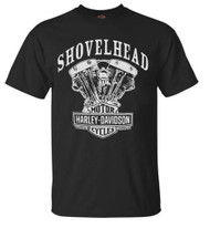 Harley-Davidson Men's T-Shirt, Shovelhead Engine Short Sleeve, Black 30294026 - Wisconsin Harley-Davidson