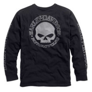Harley-Davidson Men's Willie G. Skull Long Sleeve Tee Black 99091-14VM - Wisconsin Harley-Davidson