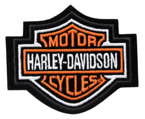 Harley-Davidson Orange Bar & Shield Patch XS 3'' x 2 1/2'' EMB302381 - Wisconsin Harley-Davidson