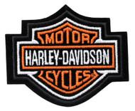 Harley-Davidson Orange Bar & Shield Patch XS 3'' x 2 1/2'' EMB302381 - Wisconsin Harley-Davidson