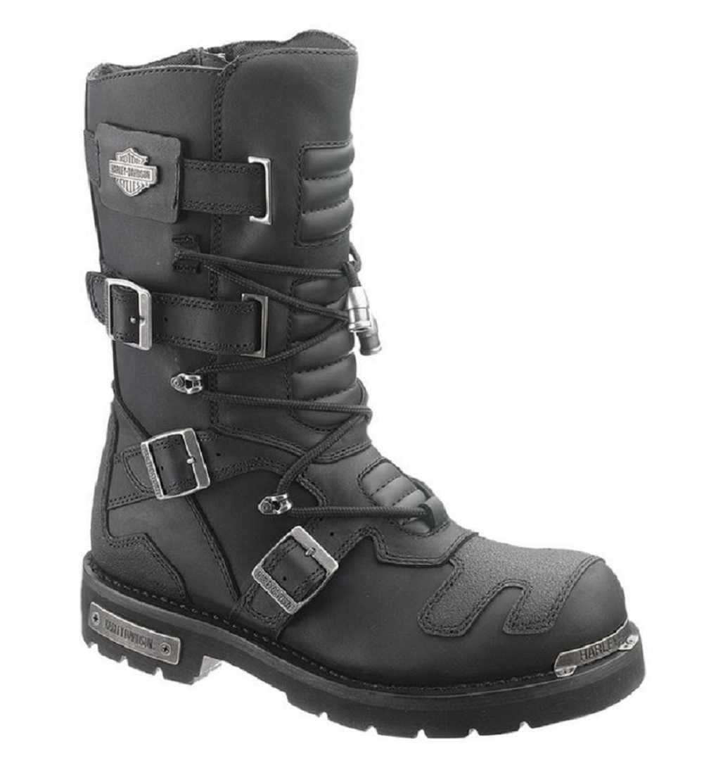 fc55081631c583 Harley-Davidson Men s Axel 10-Inch Black Motorcycle Boots D96035 - Largest  Selection of. See 3 more pictures