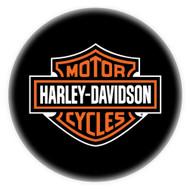 Harley-Davidson Bar & Shield Bar Stool With Back Rest HDL-12204 - Wisconsin Harley-Davidson