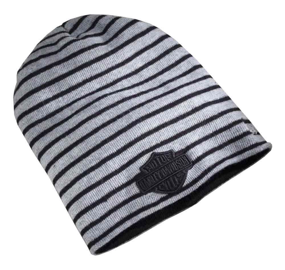 64de16c3a Harley-Davidson® Men s Striped Reversible Cuff Knit Beanie Hat