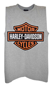 Harley-Davidson Mens Bar & Shield Tank Top Muscle Gray T-Shirt 30296626 - Wisconsin Harley-Davidson