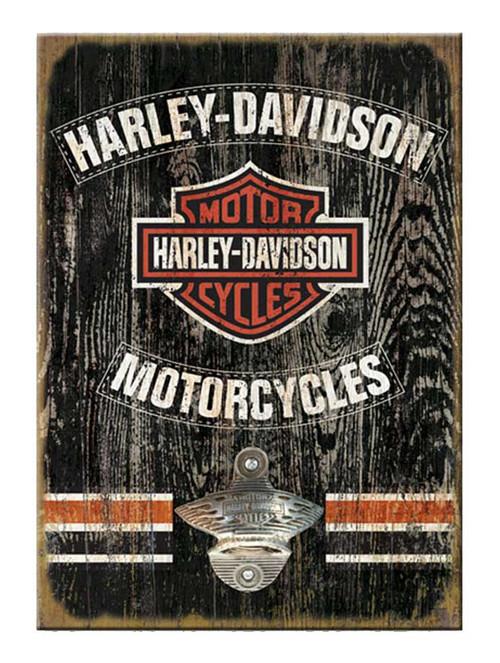 Harley-Davidson 11 x 16 Matchbook Bottle Opener Wooden Sign MB31-BO-CCGPX33-HA - Wisconsin Harley-Davidson