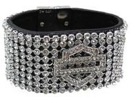 Harley-Davidson Women's Bar & Shield 8-Inch Wrist Cuff HDWCU10111-M/L - Wisconsin Harley-Davidson