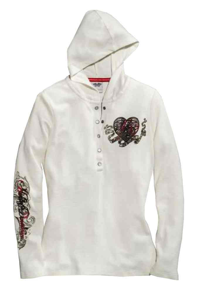 80425bfa ... Harley-Davidson Women's Crowned Heart Waffle Knit Henley,. See 1 more  picture