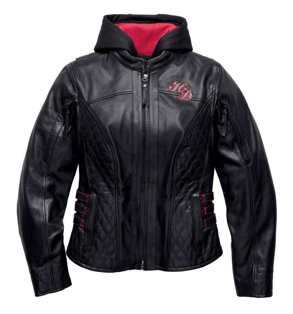 bc609aefa05634 Harley-Davidson® Women's Scroll Skull 3-IN-1 Leather Jacket, Black ...