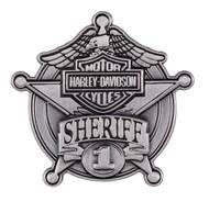Harley-Davidson Sheriff Antique Nickel Pin, 1-9/16'' W x 1-1/2'' H P1264064 - Wisconsin Harley-Davidson