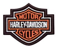 Harley-Davidson Bar & Shield Patch Medium Orange 5-5/8'' W x 4-5/8'' H EMB302383 - Wisconsin Harley-Davidson