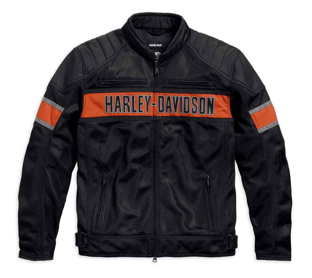 e6a87b67437a3b ... Harley-Davidson Men's Trenton Colorblocked Mesh Riding Jacket,. See 1  more picture