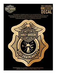 Harley-Davidson Firefighter Original Decal, Small Size DC1265262 - Wisconsin Harley-Davidson