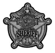 Harley-Davidson Sheriff Silver Patch, Small 3-15/16'' W x 3-3/4'' H EM1264752 - Wisconsin Harley-Davidson