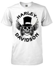 Harley-Davidson Men's Way of Life Skull Short Sleeve T-Shirt White 30298309 - Wisconsin Harley-Davidson