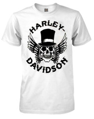 Harley-Davidson Men's Way of Life Skull Short Sleeve T-Shirt White 30298309 - Wisconsin Harley-Davidson