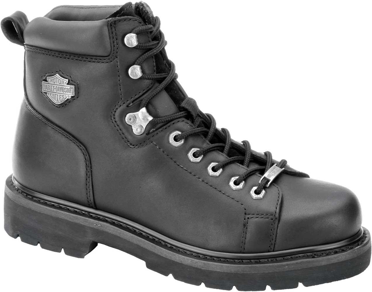 ed1e47e20bec Harley-Davidson® Men s Barton 5-Inch Black Motorcycle Boots. D93199 -  Wisconsin Harley-Davidson