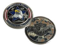 Harley-Davidson Honoring Freedom Military Challenge Coin, Silver 8003845 - Wisconsin Harley-Davidson