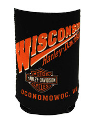 Harley-Davidson Wisconsin Harley Custom Can Wrap Cooler and Insulator CANWRAP - Wisconsin Harley-Davidson
