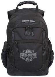 Harley-Davidson Men's Classic Bar & Sheild Backpack, Black BP1932S-BLACK - Wisconsin Harley-Davidson
