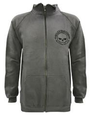Harley-Davidson Men's Track Jacket Willie G Skull Logo Charcoal Warm Up 30296619 - Wisconsin Harley-Davidson