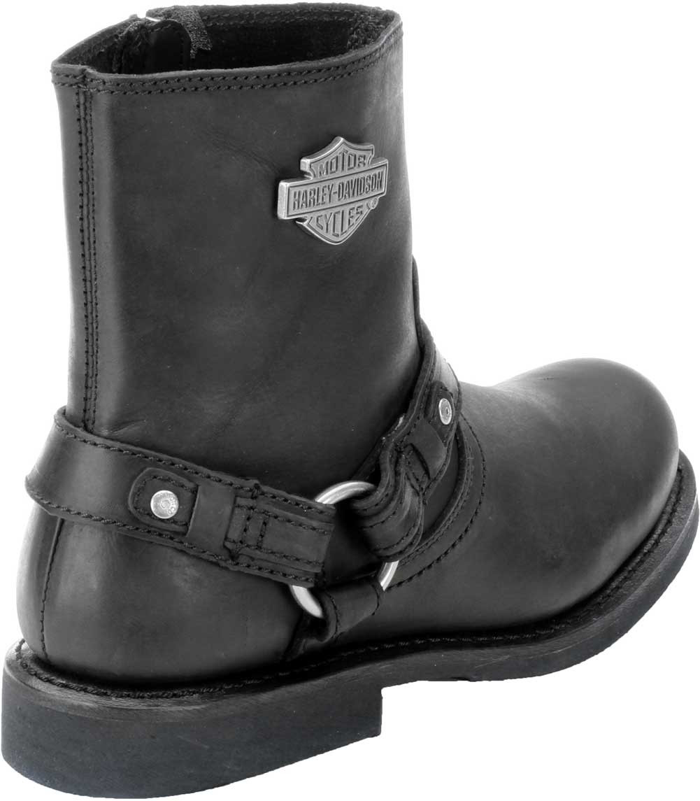 b2314b04915 Harley-Davidson® Scout Black 7-Inch Leather Boots, Side Entry Inside Zip.  D95262