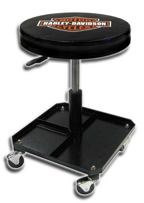 Harley-Davidson Bar & Shield Shop Stool Swivel & Adjusted Seat Height P4766 - Wisconsin Harley-Davidson