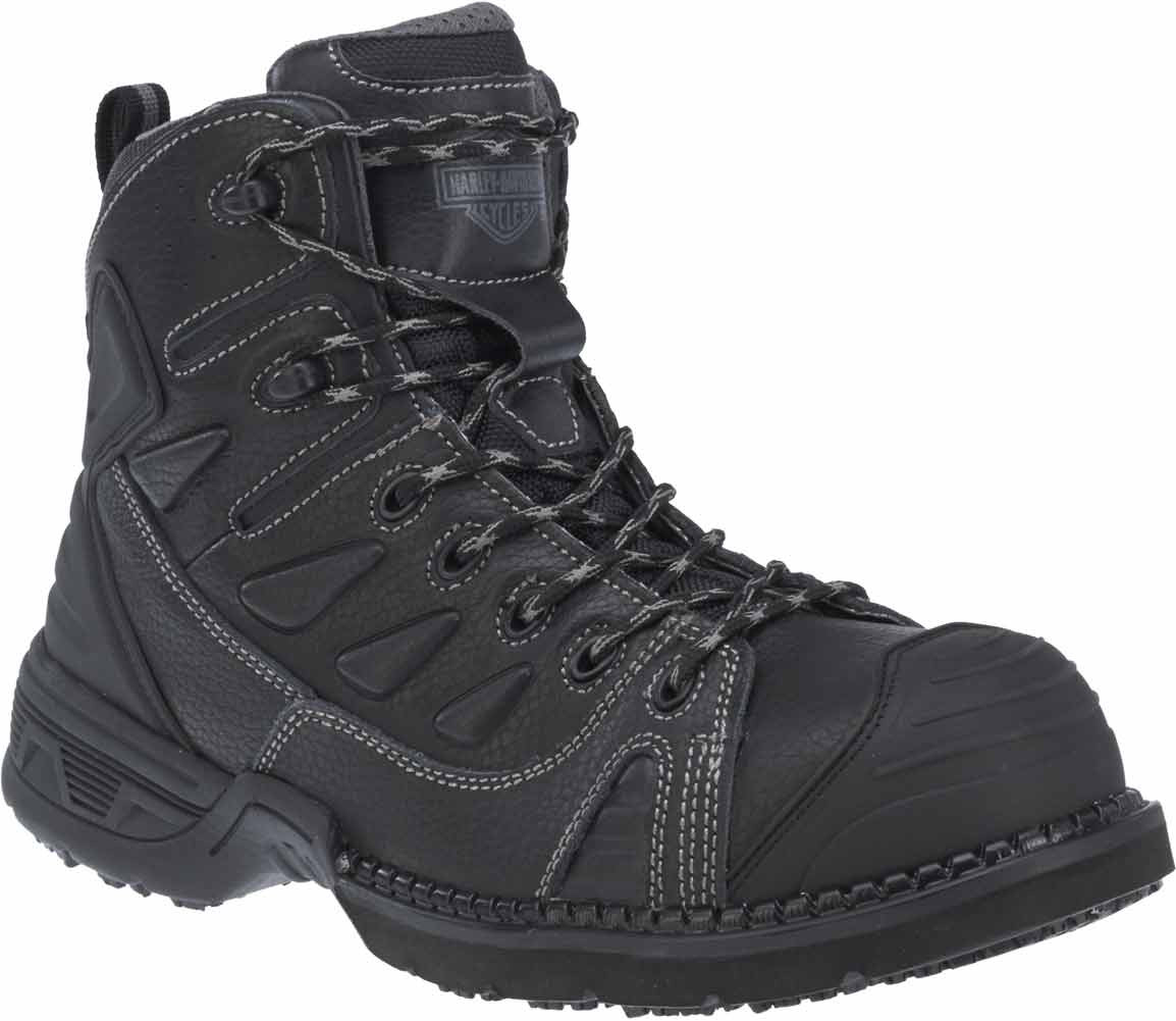 71e8e57b7e58 Harley-Davidson Men s Foxfield Steel Toe 4-Inch Black Leather Boots. D93333  -. See 3 more pictures