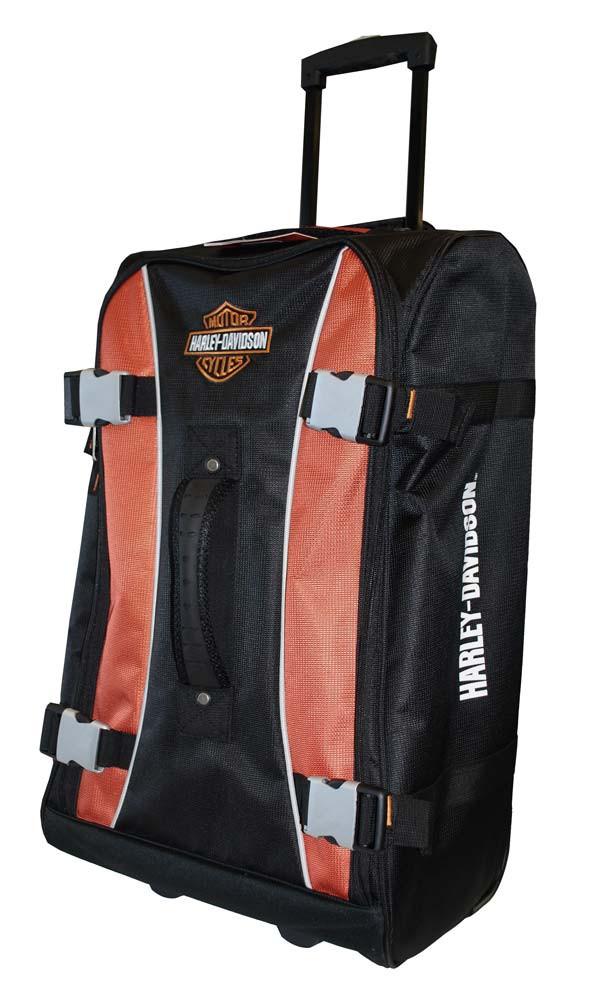 786b5dc95c17 Harley-Davidson® Hybrid Luggage 25'' Casual Upright Suitcase, Rust/Black  99625